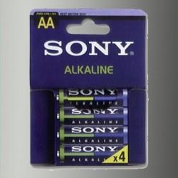 Piles alcalines LR06 - AA – 1,5V Sony.  (blister de 4)
