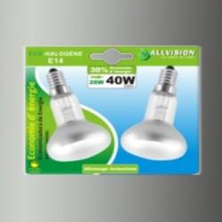 Lot de 2 ampoules halogènes réflecteur R50 28W E14