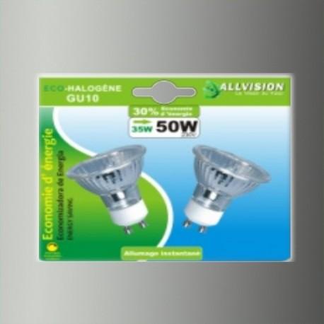 Lot de 2 ampoules halogènes dichroïques GU10 35W