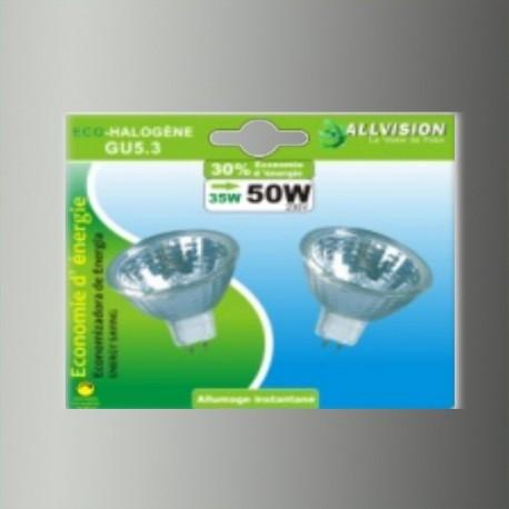Lot de 2 ampoules halogènes dichroïques GU5.3 35W