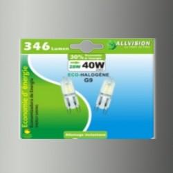 Lot de 2 ampoules halogènes capsules G9 28W