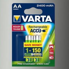 Piles rechargeables AA - HR6 - 2400mAH (blister de 2)
