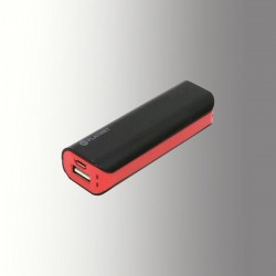 PLATINET POWER BANK 2200 mAh + MicroUSB CABLE BLACK/RED