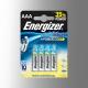 Piles alcalines LR03 - AAA Energizer Power Boost(blister de 4)