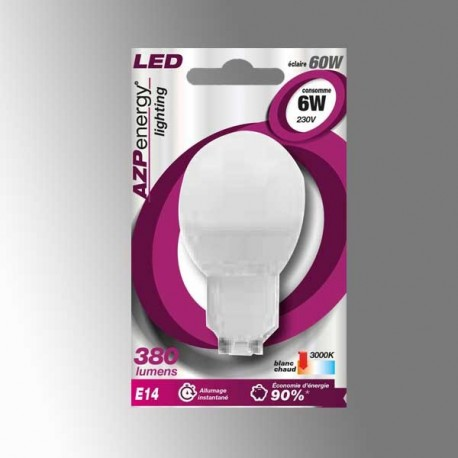 Ampoule LED Ball E14 6W