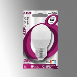 Ampoule LED Ball E27 6W 3000K