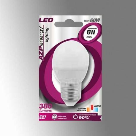 Ampoule LED Ball E27 6W 4000K