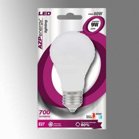 Ampoule LED Sphère E27 9W 3000K