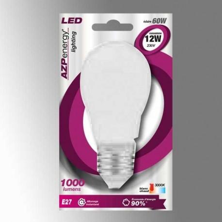 Ampoule LED Sphère E27 12W 3000K
