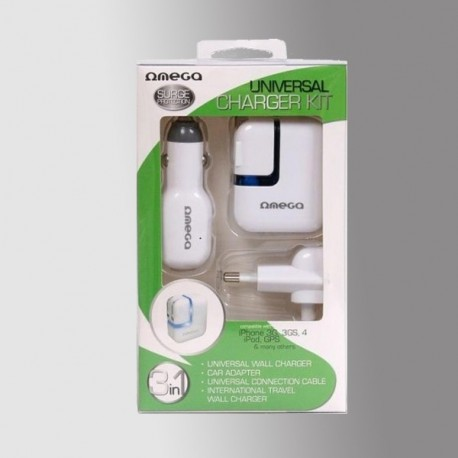 OMEGA 41225UNIVERSAL CHARGER KIT FOR CHARGING MOBILE