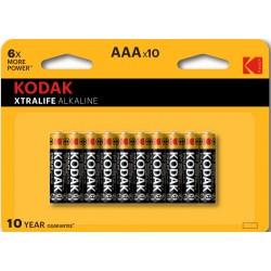 Piles alcalines LR03 - AAA  KODAK (blister de 10)