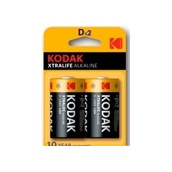 Piles alcalines LR20 - D – KODAK (blister de 2)