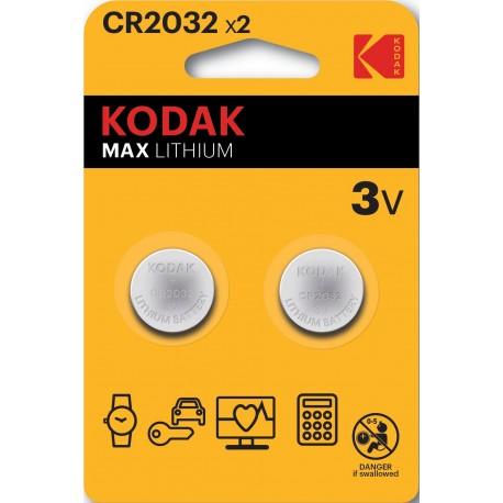 2 PILES CR2032 KODAK Blister