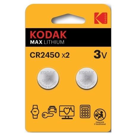 2 PILES CR2450 KODAK en blister