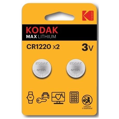 2 PILES CR1220 KODAK en blister