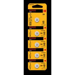 5 PILES CR2016 KODAK en blister