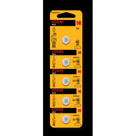 5 PILES CR2032 KODAK en blister