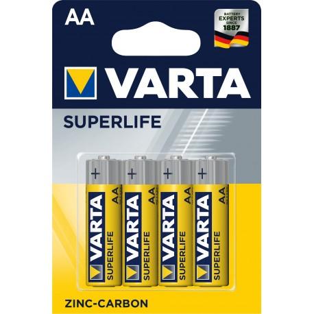 Piles salines R06 - AA – 1,5V Varta Superlife (blister de 4)