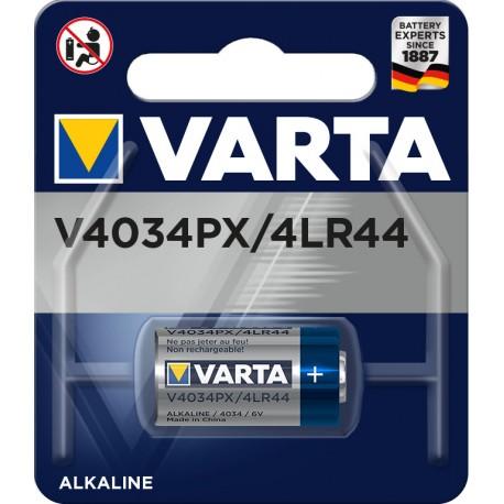 Pile électronique alcaline 6V 4LR44 - 4034PX Varta