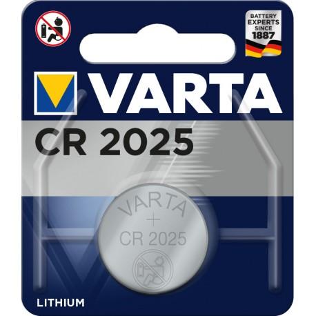 Pile électronique lithium CR2025 Varta.