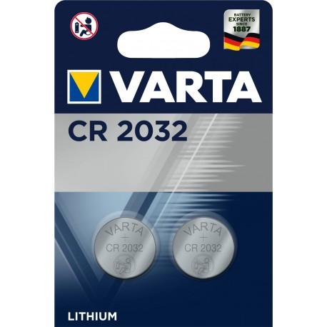 Pile électronique lithium CR2032 Varta