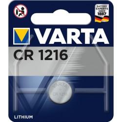 Pile électronique lithium CR1216 Varta