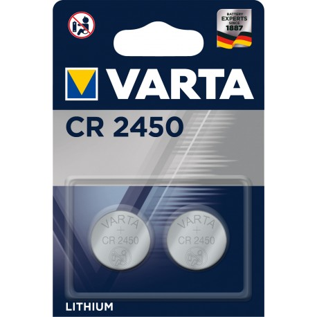 Pile électronique lithium CR2450 Varta.
