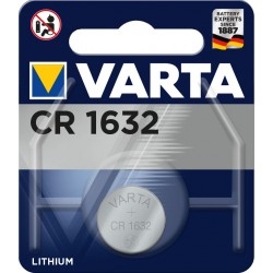 Pile électronique lithium CR1632 Varta
