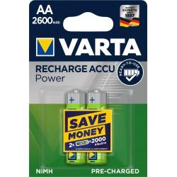 Piles rechargeables AA - HR6 - 2600mAH prêtes à l'emploi (blister de 2)