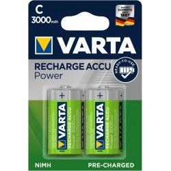 Piles rechargeables C - HR14 - 3000mAH prêt à l'emploi.