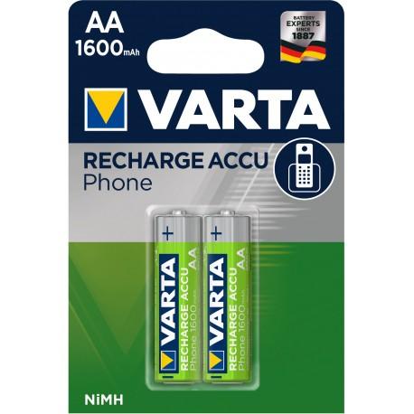 Accus AA 1600mah pour téléphones sans fil