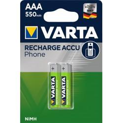 Accus AAA 550mah pour téléphone sans fil