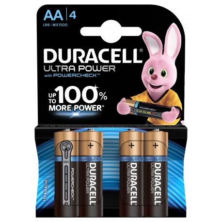 Piles alcalines LR06 - AA Duracell Ultra power (blister de 4)