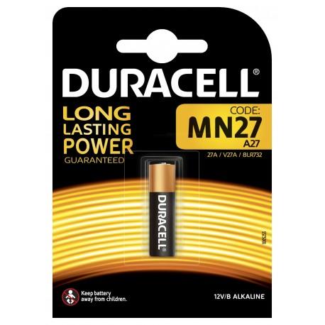 Pile électronique alcaline 12V 27A - MN27 Duracell