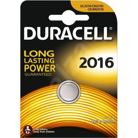 Pile électronique lithium CR2016 Duracell