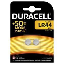 Pile électronique alcaline 1,5V LR44 - Duracell (blister de 2)