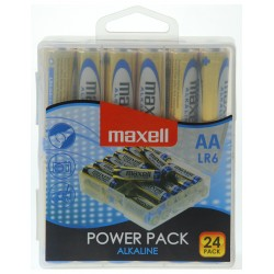 Blister de 24 piles alcalines LR06 - AA – 1,5V Maxell