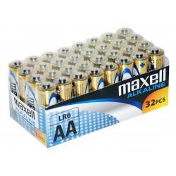 32 piles alcalines LR06 - AA – 1,5V Maxell