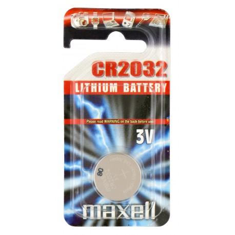 Pile électronique lithium CR2032Maxell en blister