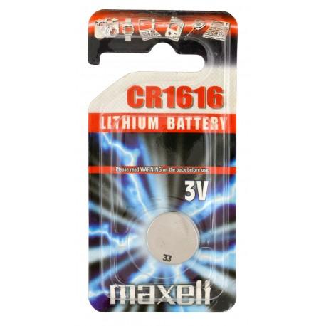 Pile électronique lithium CR1616 Maxell en blister