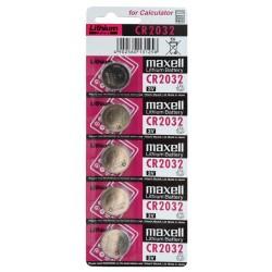 Plaquette de 5 piles MAXELL CR2032 en blister