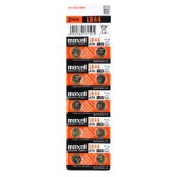 10 piles LR44 MAXELL en blister