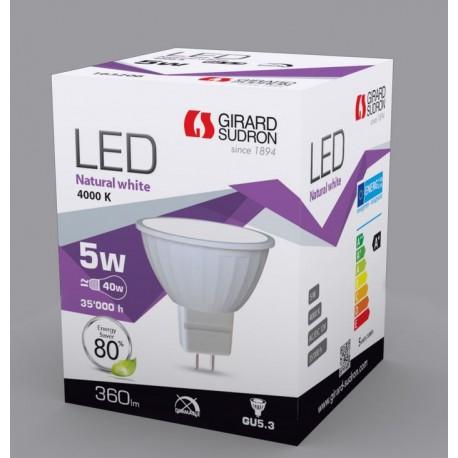 Spot LED GU5.3 5W 4000K 420 Lumens Girard SUDRON