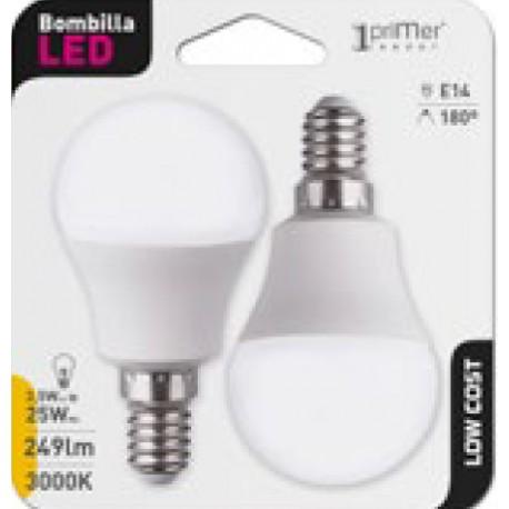 2 ampoules LED ball E27 3.5W en blister