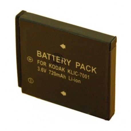 Batterie de remplacement pour KODAK KLIC 7001 3.6V L5/8