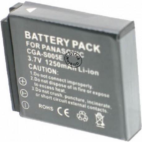 Batterie de remplacement pour PANASONIC CGA-S005E 3.7V Li-Ion 1200mAh