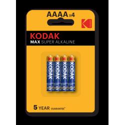 4 piles AAAA Kodak en blister