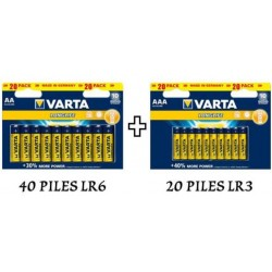60 piles VARTA Longlife ( 40 LR6 + 20 LR3 )