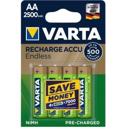 Piles rechargeables AA - HR6 - 2500mAH (blister de 4)