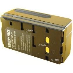 Batterie de caméscope pour SONY NP55 / BP66 / NP77 (2 contacts) Black 6V Ni-MH 4400mAh